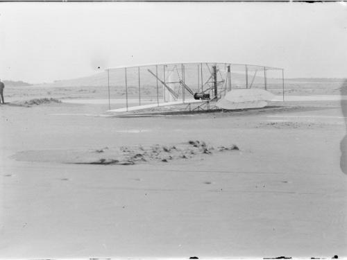 The 1903 Wright Flyer After Fourth Flight