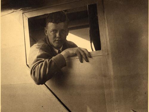 Charles Lindbergh in Spirit of St. Louis