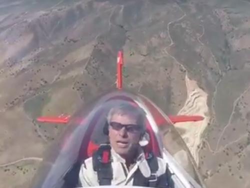Sean D. Tucker in Flight