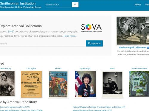 Smithsonian Online Virtual Archives (SOVA) Homepage