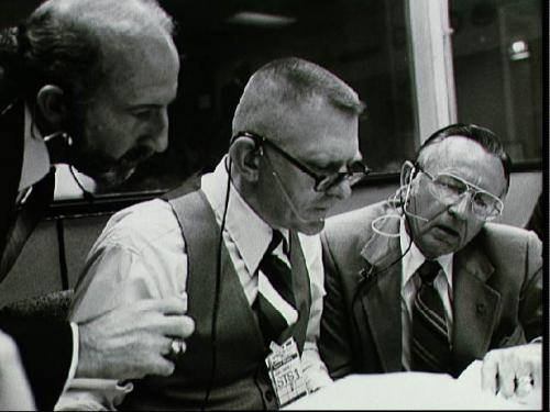 Gene Kranz and Chris Kraft at console