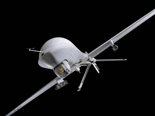 MQ-1L Predator A in the Military Unmanned Aerial Vehicles exhibition