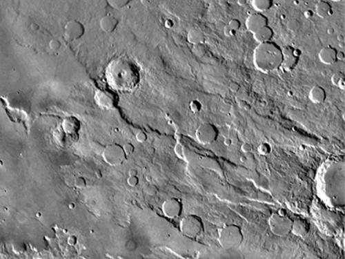 Amenthes Rupes Thrust Fault on Mars