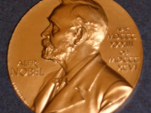 Replica of John Mather's Nobel Prize for Physics