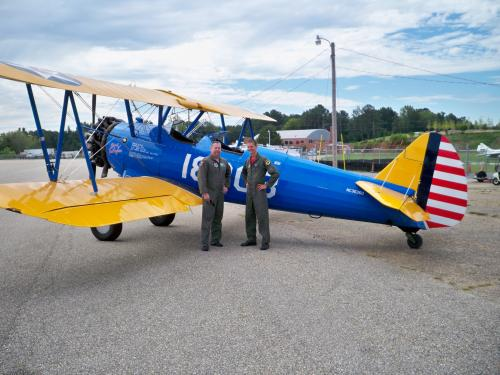 Dik Daso and Matt Quy with PT-13 Stearman