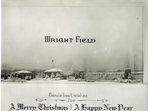Wright Field Christmas Card, 1940