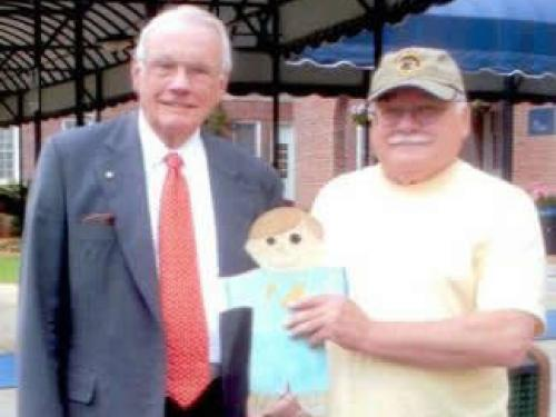 Neil Armstrong, Tom Crouch, and a Flat Stanley