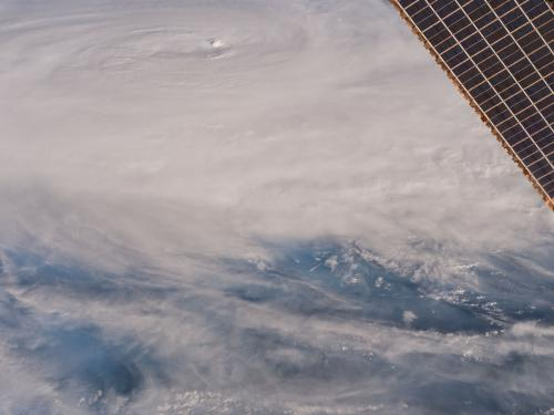 Tropical Cyclone Debbie Viewed From the ISS