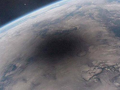 Moon's Shadow Over Earth
