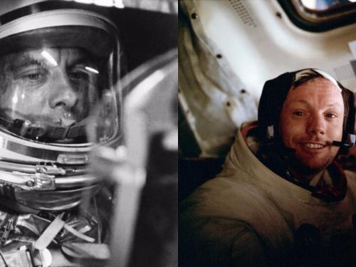 Photographs of Armstrong and Shephard side by side