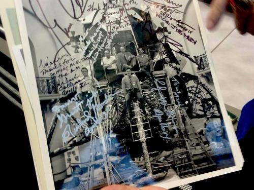 Testing the Lunar Module Signed Photograph