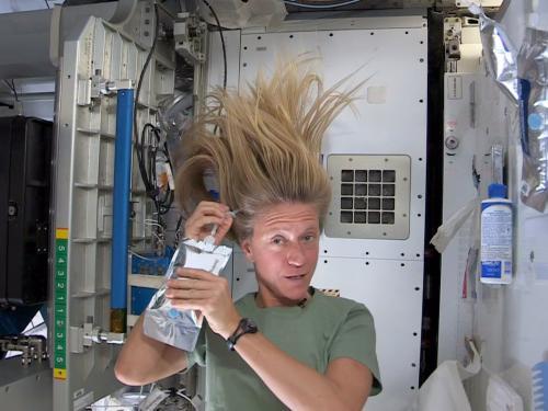 Washing Hair in Space