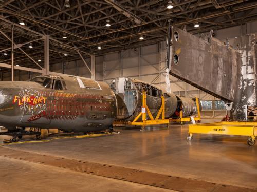 """Flak-Bait"" in Restoration Hangar"
