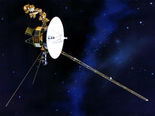 Artistic rendering of Voyager spacecraft