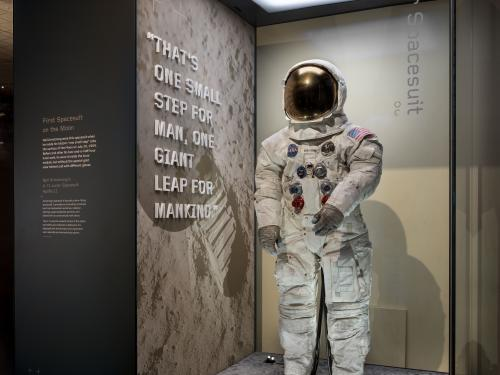 Neil Armstrong Spacesuit Display
