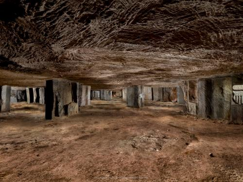 View of Underground WWI Living Spaces