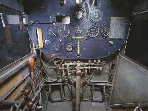 "Ryan NYP ""Spirit of St. Louis"" Cockpit in Boeing Milestones of Flight Hall"