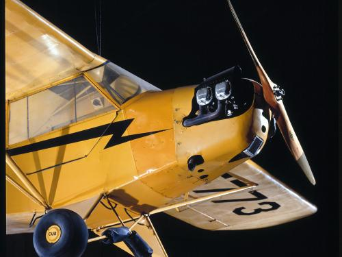 Piper J-3 Cub at the Udvar-Hazy Center