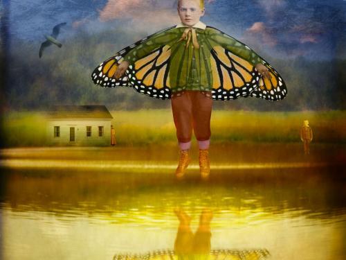 Flying Boy Over Truro's Pond