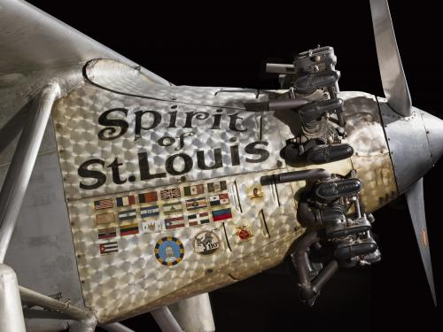 Close up of the Spirit of St Louis's cowell.