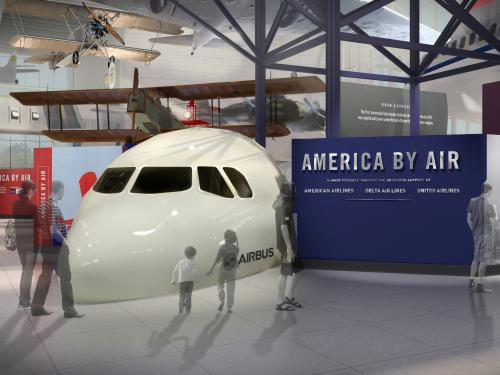 """America by Air"" Entry Rendering"