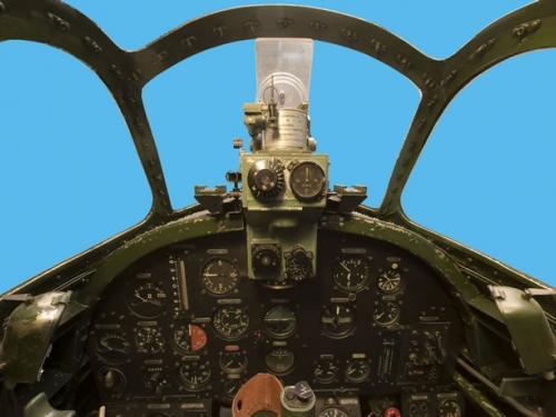 Panorama of Aichi M6A1 Seiran cockpit