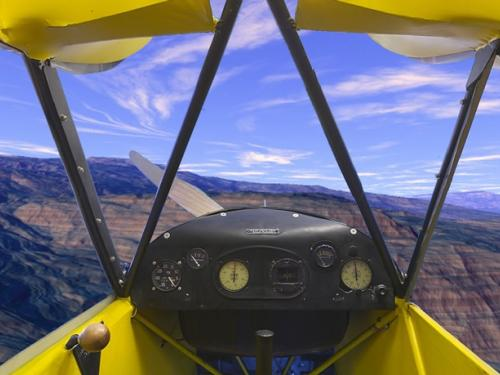 Piper J-3 Cub Panorama