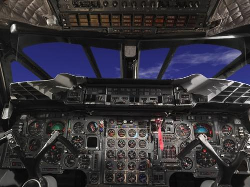 Panoramic photograph of Concorde cockpit