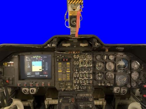 Panoramic photograph of Bell XV-15 TRRA cockpit
