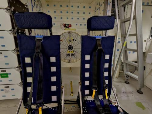Space Shuttle  Discovery Mid deck