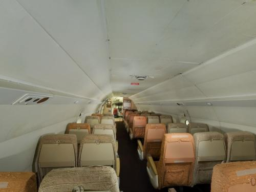 Panoramic photograph of Boeing 367-80 Rear Cabin