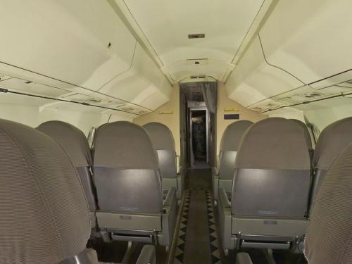Panoramic photograph of Concorde Cabin