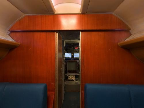 Panoramic photograph of Douglas DC-7 Cabin