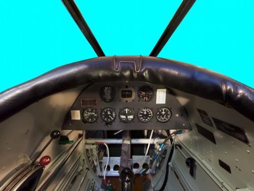 Ryan PT-22A Recruit Rear Seat Panorama