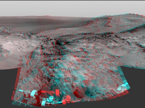 3D Anaglyph of Marathon Valley on Mars
