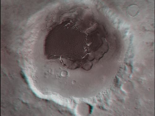 3D Anaglyph of Rabe Crater on Mars