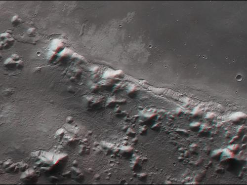 3D Anaglyph of Phlegra Montes on Mars
