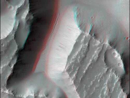 3D Anaglyph of Kasei Valles on Mars