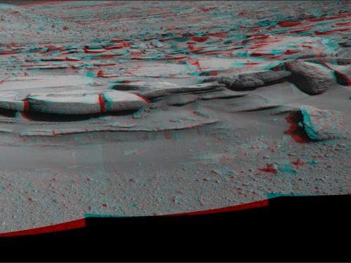 3D Anaglyph of Sandstone Outcrop