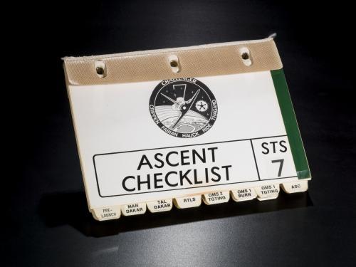 Sally Ride's Ascent Checklist