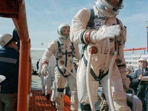 Neil Armstrong and David Scott Board Gemini VIII