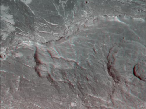 3D Anaglyph of Claritas Fossae Region