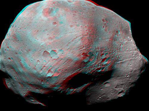 3D Anaglyph of Phobos