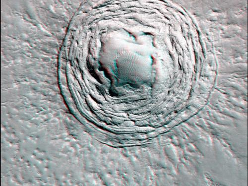 3-D Anaglyph of Mystery Pit