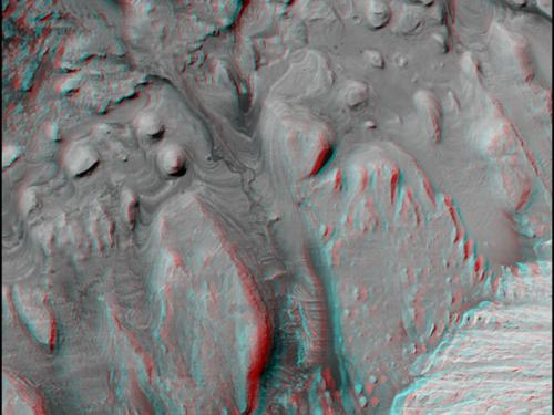 3-D Anaglyph of Inverted Riverbed
