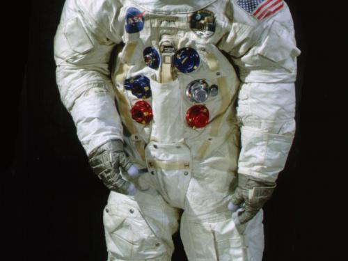 Front view of Aldrin Apollo 11 Spacesuit