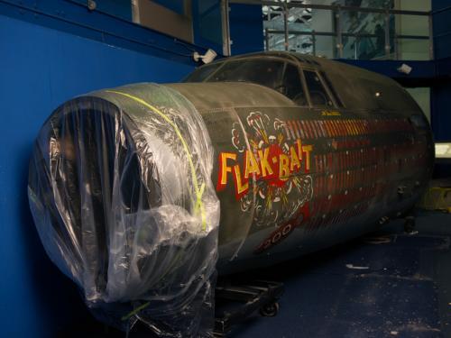 Moving the Martin B-26B Marauder Flak-Bait's Forward Fuselage