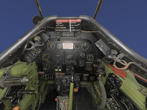 Panorama of  North American P-51D Cockpit (A19600300000)