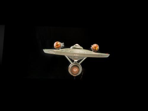 Front of Star Trek Starship Enterprise Studio Model with lights