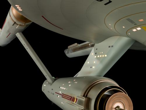 Enterprise against a black background.